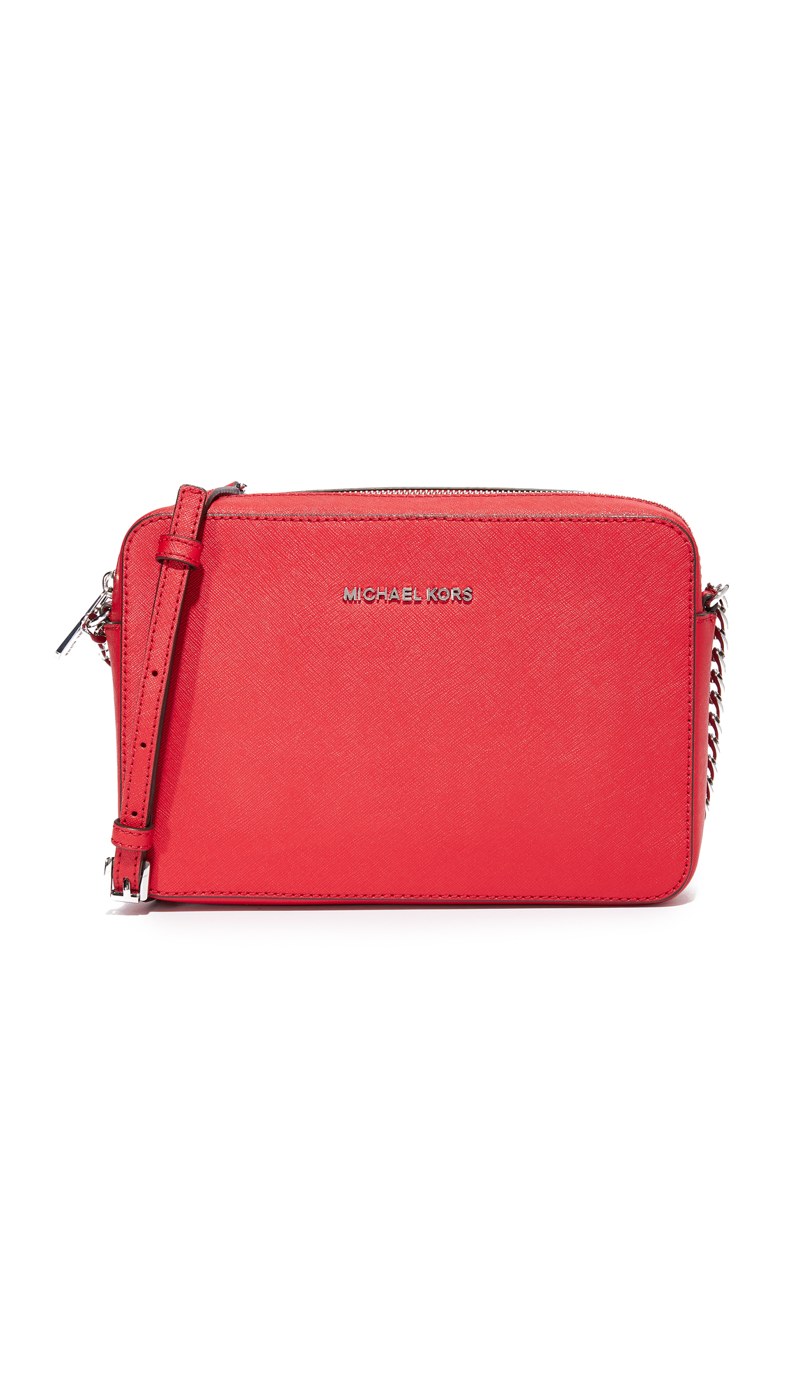 MICHAEL Michael Kors Large East / West Cross Body Bag - Bright Red