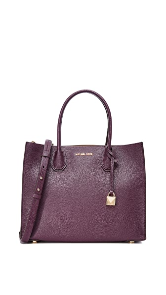 MICHAEL Michael Kors Large Mercer Tote In Damson