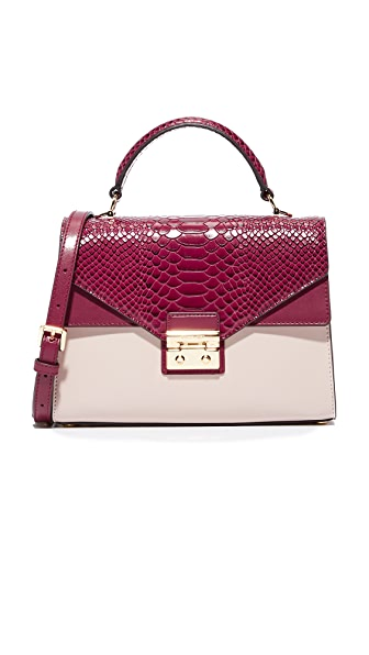 MICHAEL Michael Kors Medium Thela Satchel - Mulberry/Soft Pink