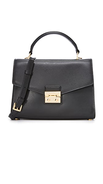 MICHAEL Michael Kors Medium Thela Satchel - Black