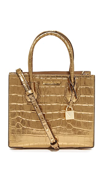 MICHAEL Michael Kors Medium Mercer Messenger Bag - Pale Gold