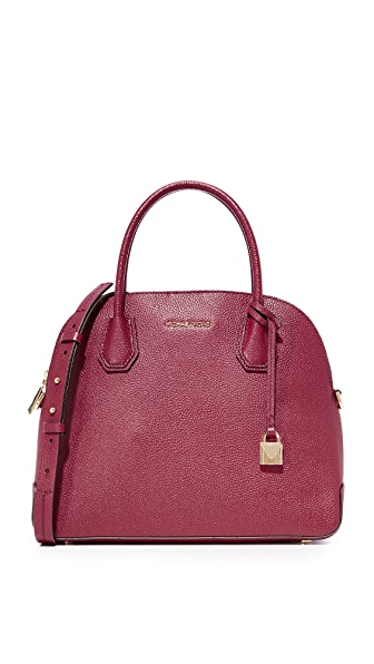 MICHAEL Michael Kors Large Mercer Dome Satchel - Mulberry