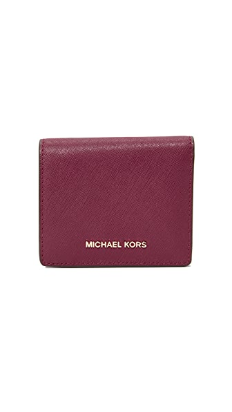 MICHAEL Michael Kors Flap Card Holder In Mulberry
