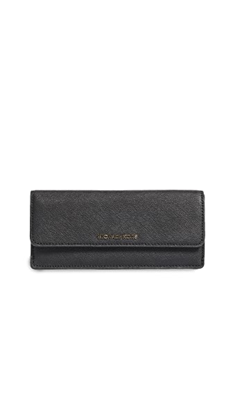 MICHAEL Michael Kors Flat Wallet In Black