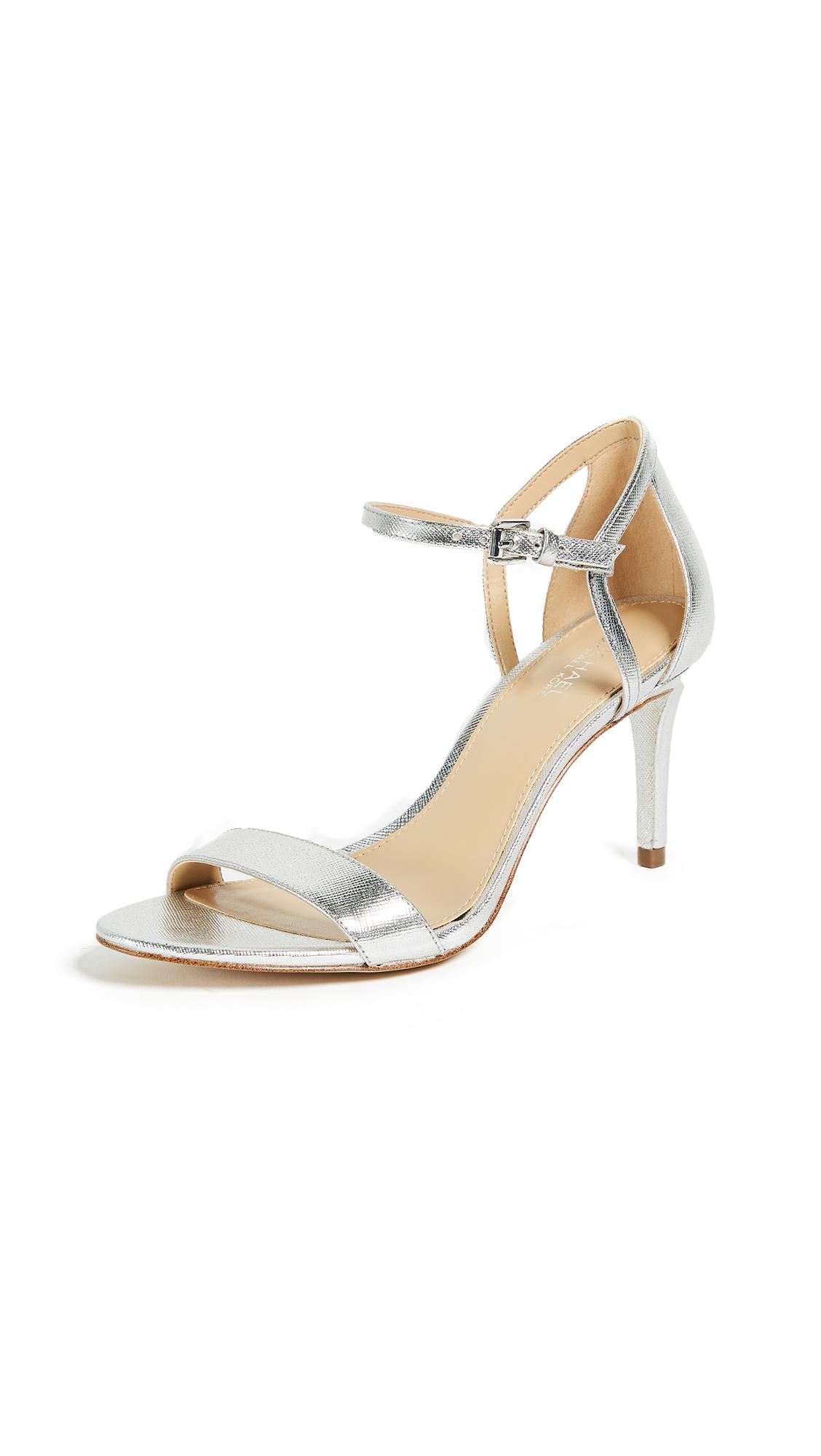 MICHAEL Michael Kors Simone Mid Sandals - Silver
