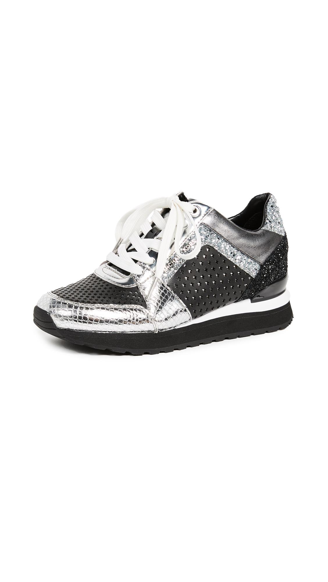 MICHAEL Michael Kors Billie Trainers - Black/Silver
