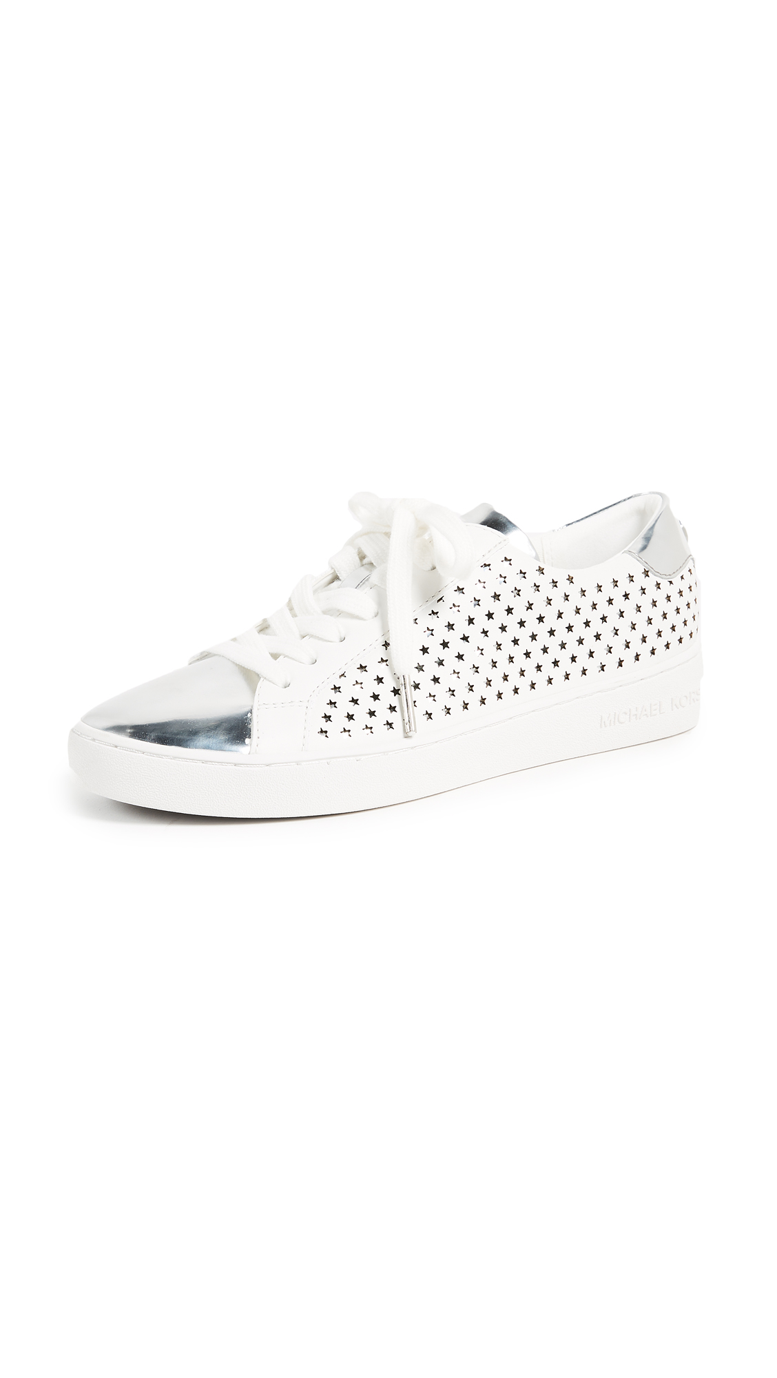 MICHAEL Michael Kors Irving Lace Up Sneakers - Optic White