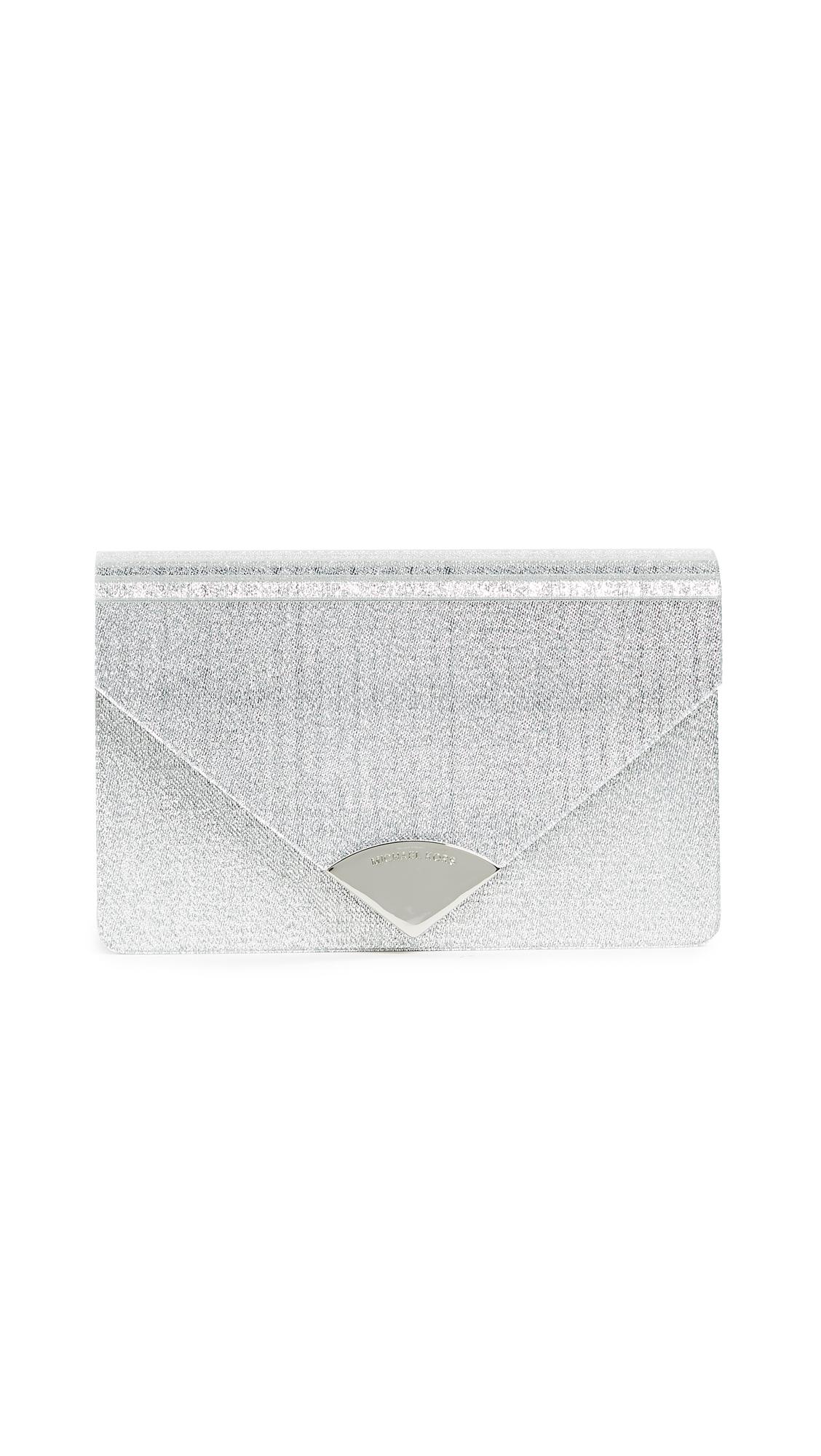 MICHAEL Michael Kors Barbara Metallic Envelope Clutch