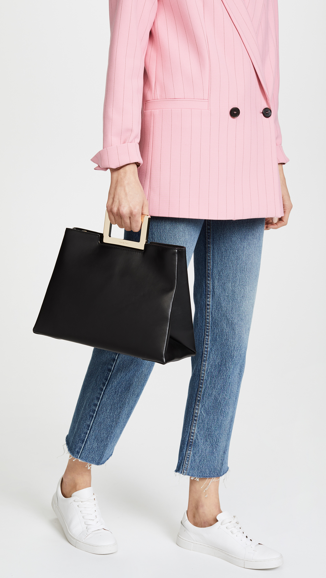 Kristen Large Top Handle Satchel Bag in Black Polished Leather Michael Michael Kors eOt8fHhhkb
