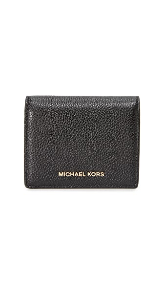 MICHAEL Michael Kors Money Pieces Flap Card Holder In Black