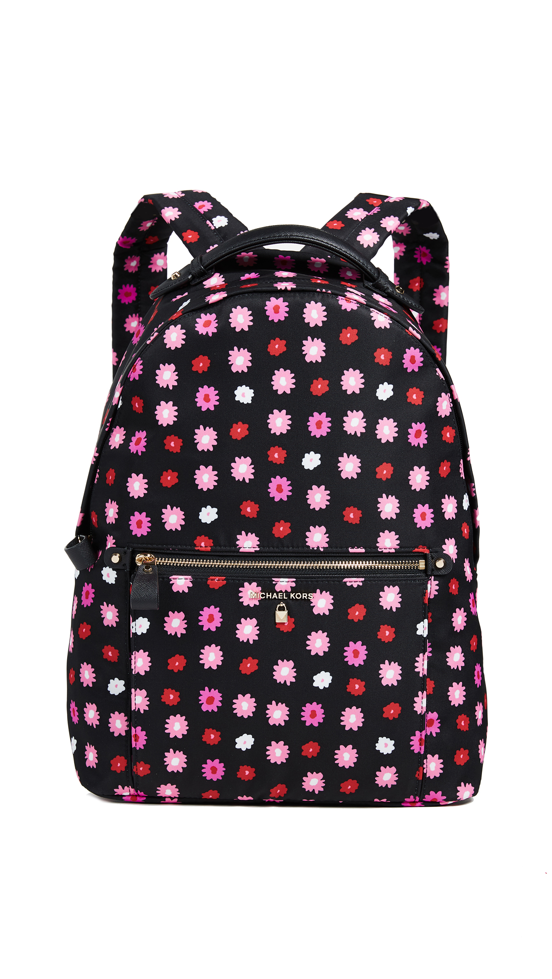 f9a09dab3baf Michael Michael Kors Nylon Kelsey Large Backpack In Black Ultra Pink