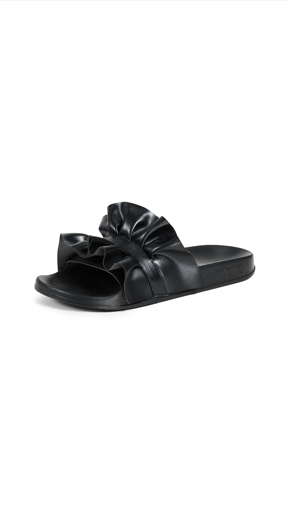 MICHAEL Michael Kors Bella Sport Slides - Black