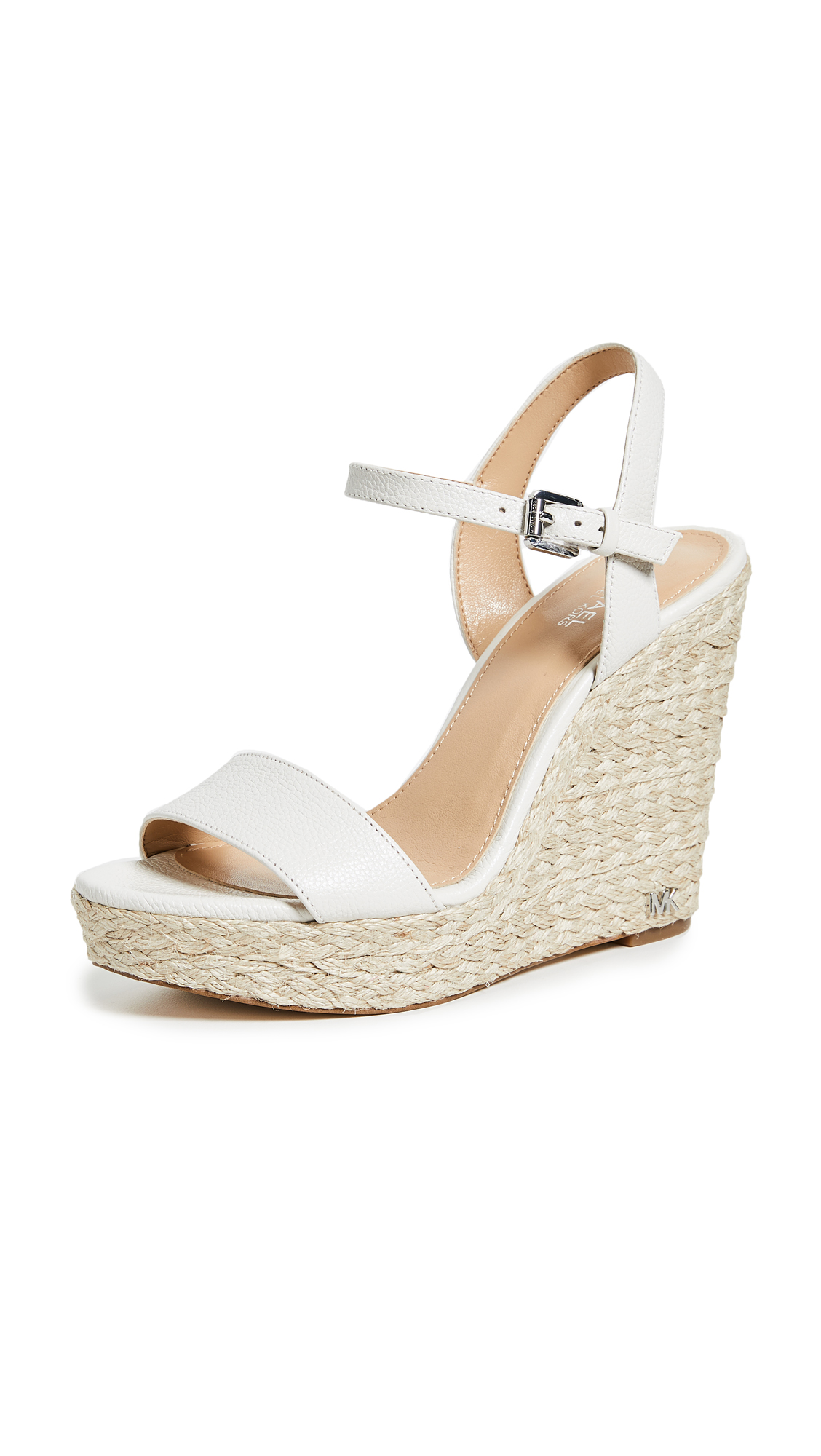 MICHAEL Michael Kors Jill Espadrille Wedges - Optic White
