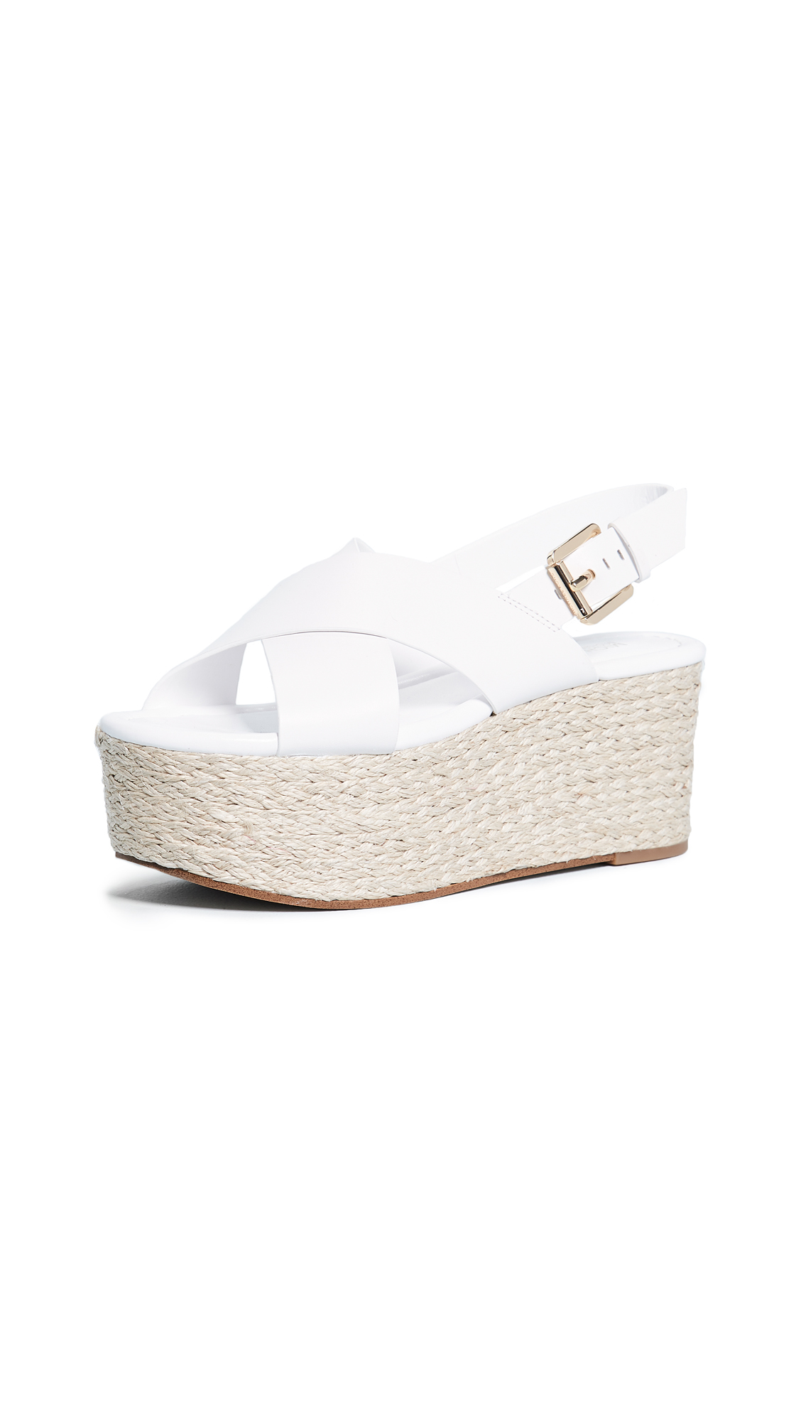 MICHAEL Michael Kors Jodi Mid Espadrille Wedges - Optic White