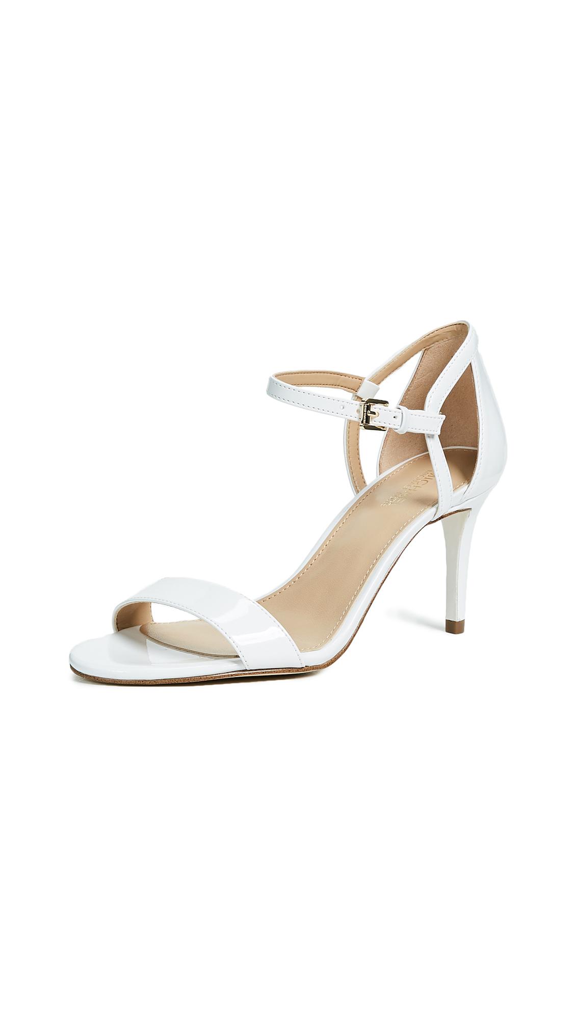 MICHAEL Michael Kors Simone Mid Sandals - Optic White