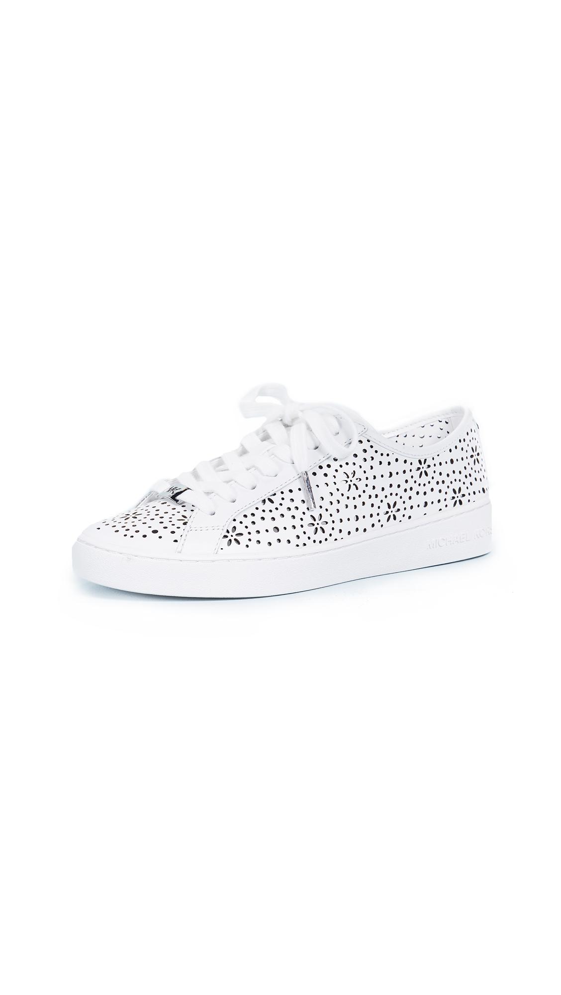MICHAEL Michael Kors Keaton Lace Up Sneakers - Optic White