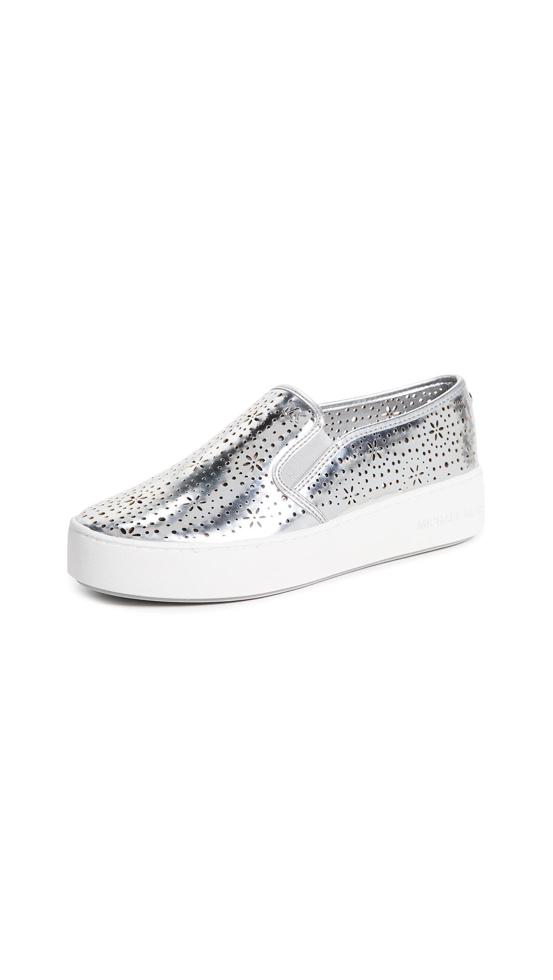 MICHAEL Michael Kors Trent Slip Ons - Silver