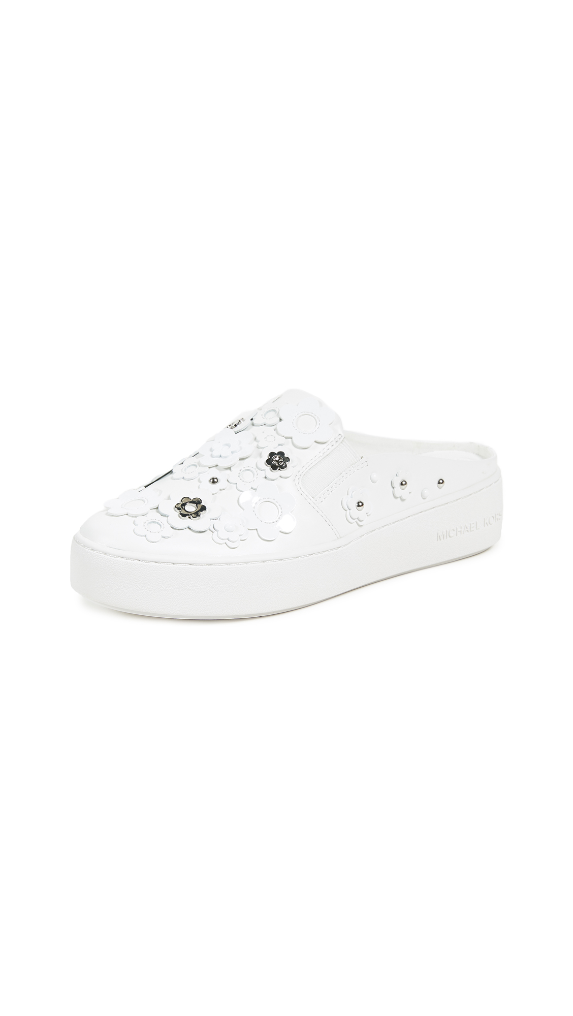 MICHAEL Michael Kors Vanna Slip On Sneakers - Optic White