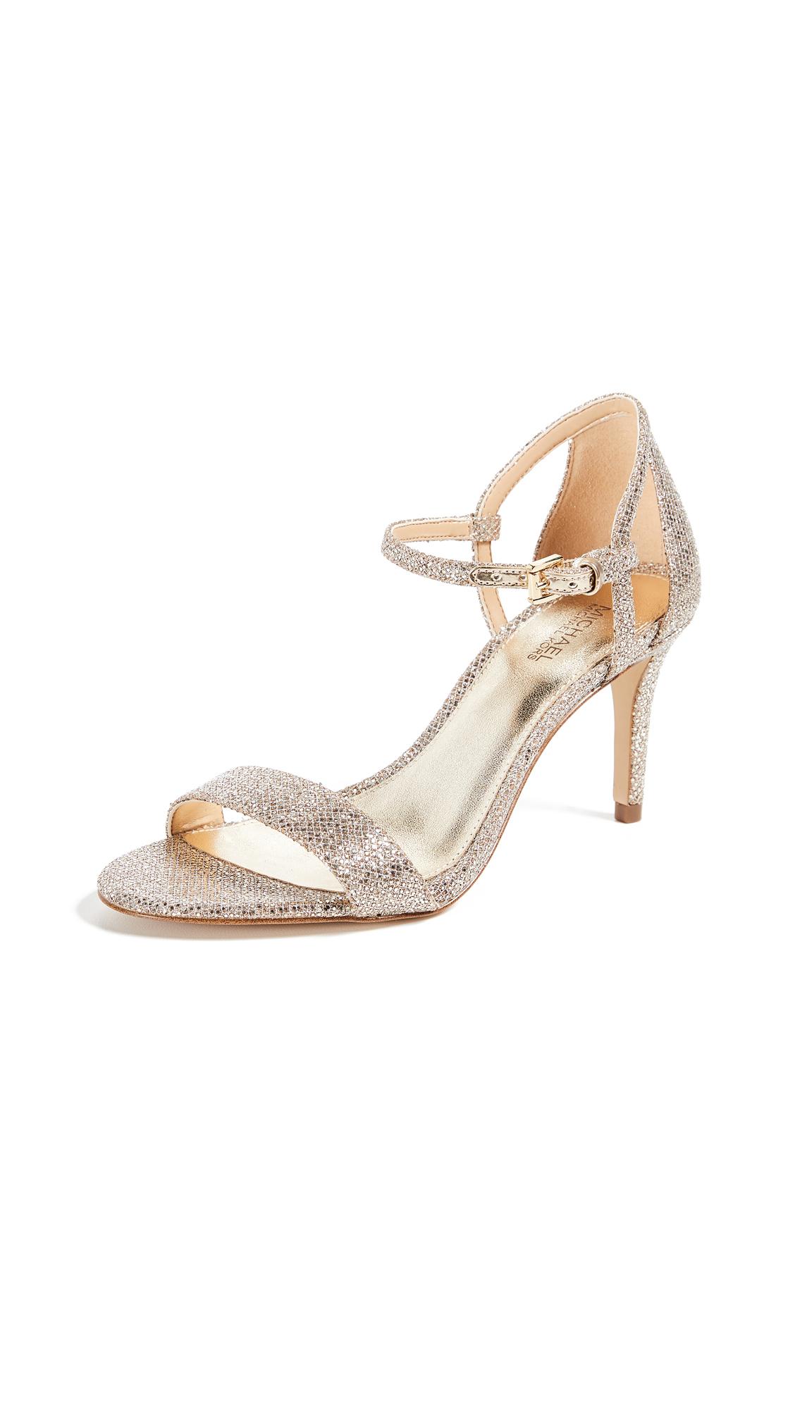 MICHAEL Michael Kors Simone Mid Sandals - Silver/Sand