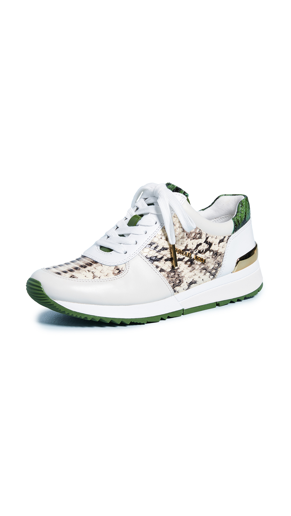 MICHAEL Michael Kors Allie Trainers - Natural/Cream/Green