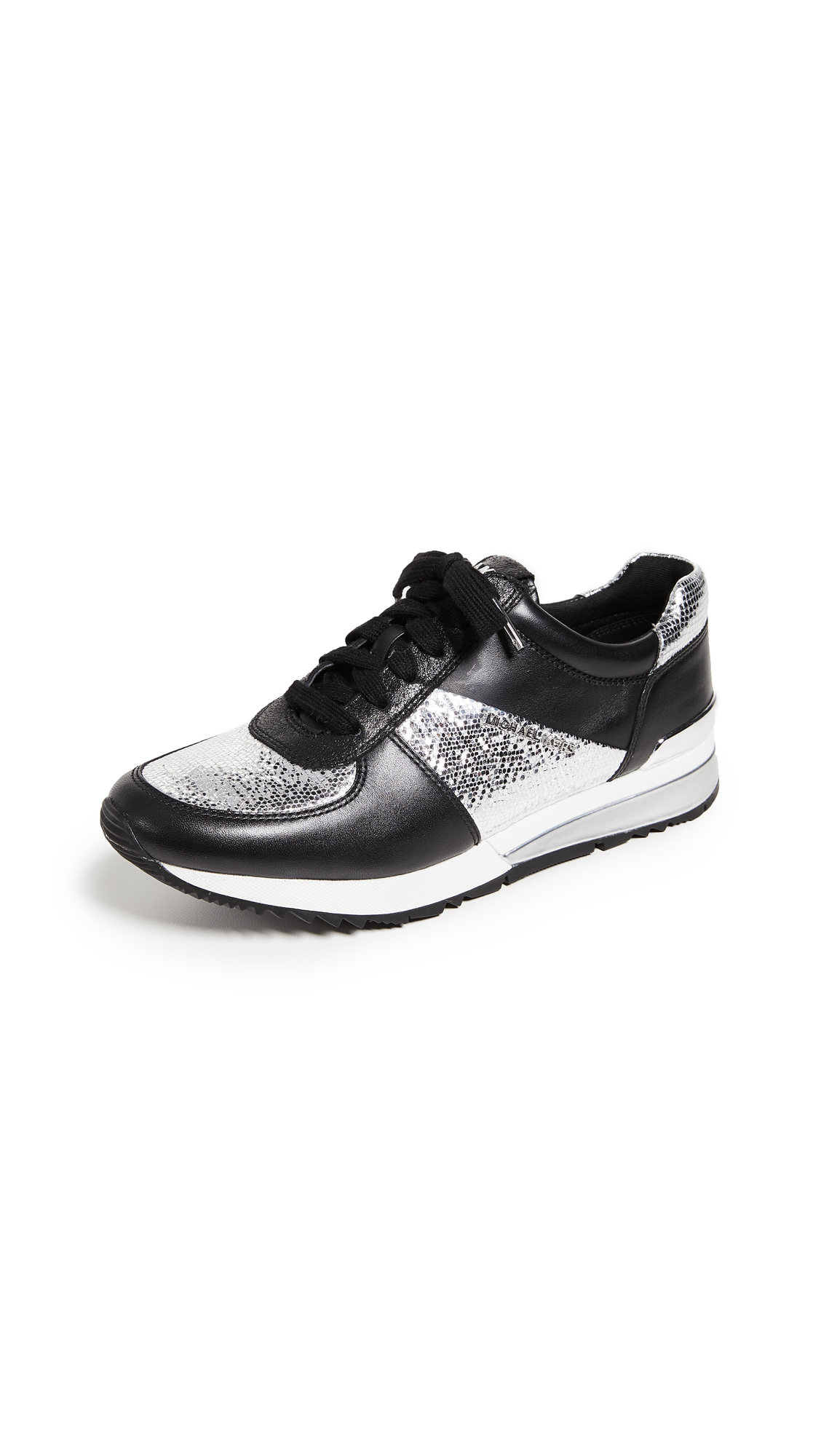 MICHAEL Michael Kors Allie Wrap Trainers - Silver/Black