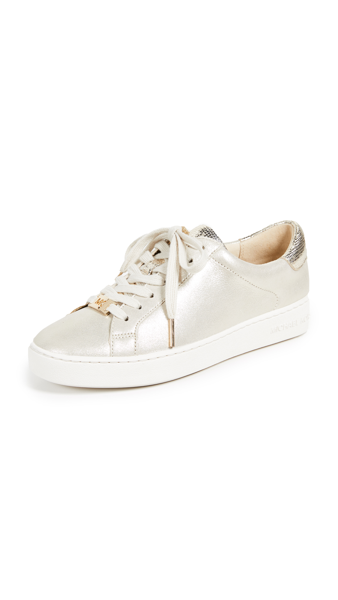 MICHAEL Michael Kors Irving Lace Up Sneakers In Champagne