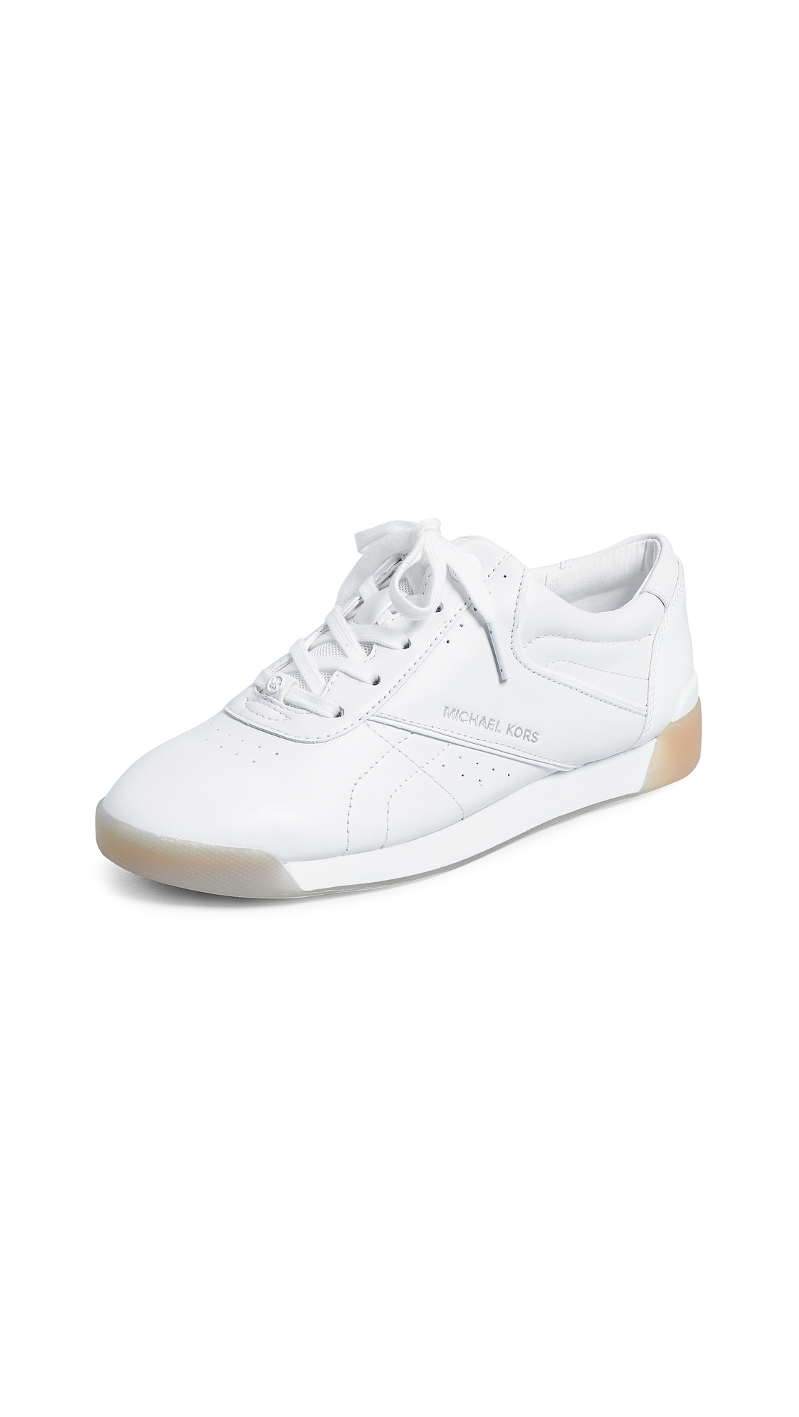MICHAEL Michael Kors Addie Lace Up Sneakers - Optic White