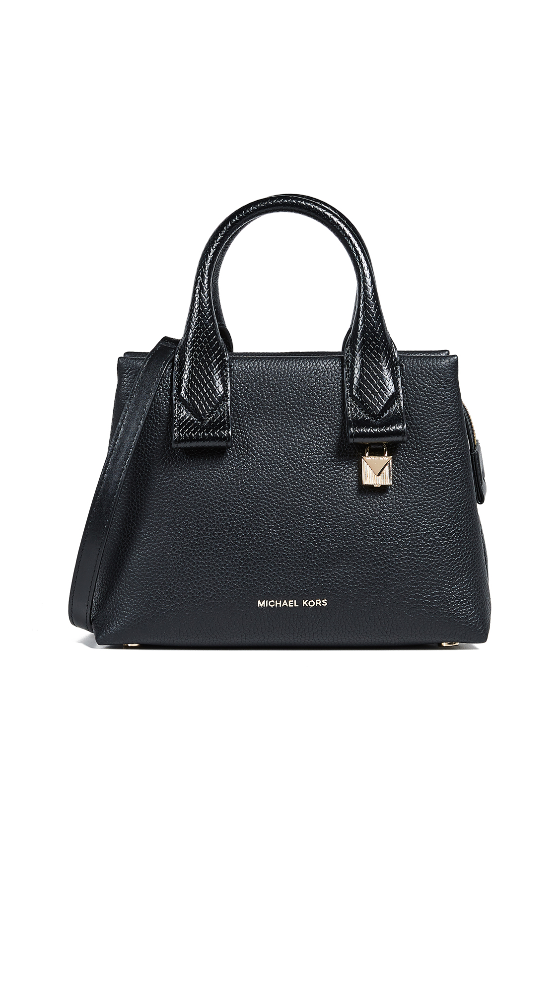 Rollins Leather Satchel - Black