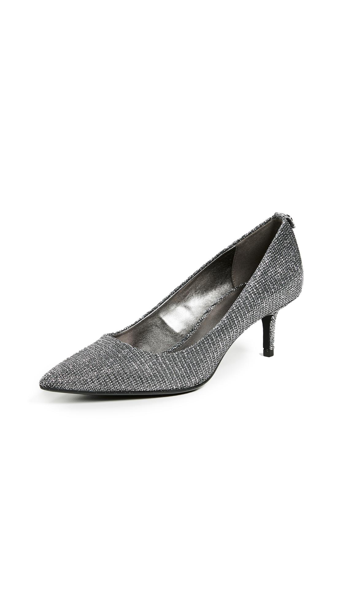 MICHAEL Michael Kors MK-Flex Kitten Heel Pumps - Black/Silver