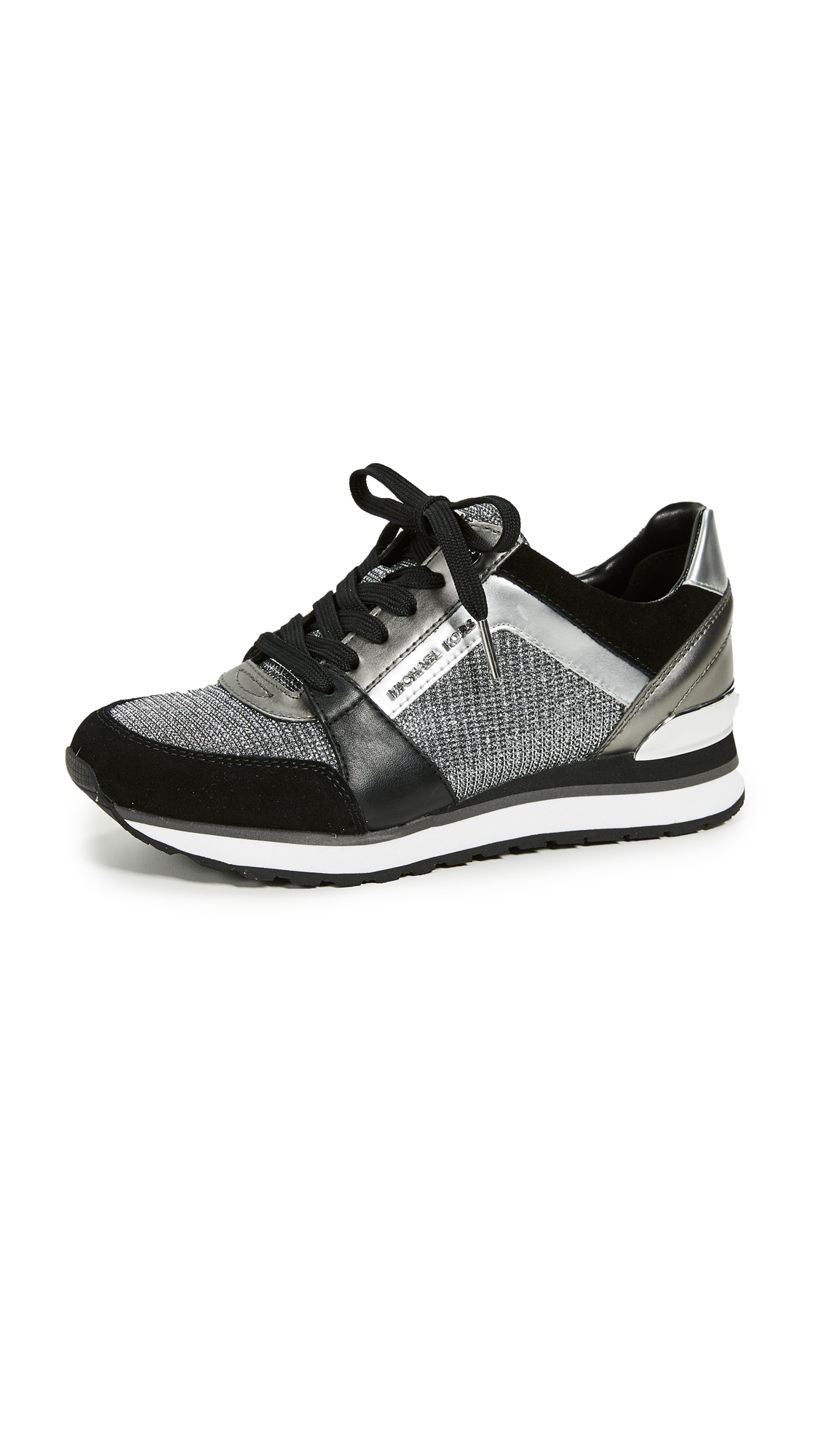 MICHAEL Michael Kors Billie Trainers - Black/Silver