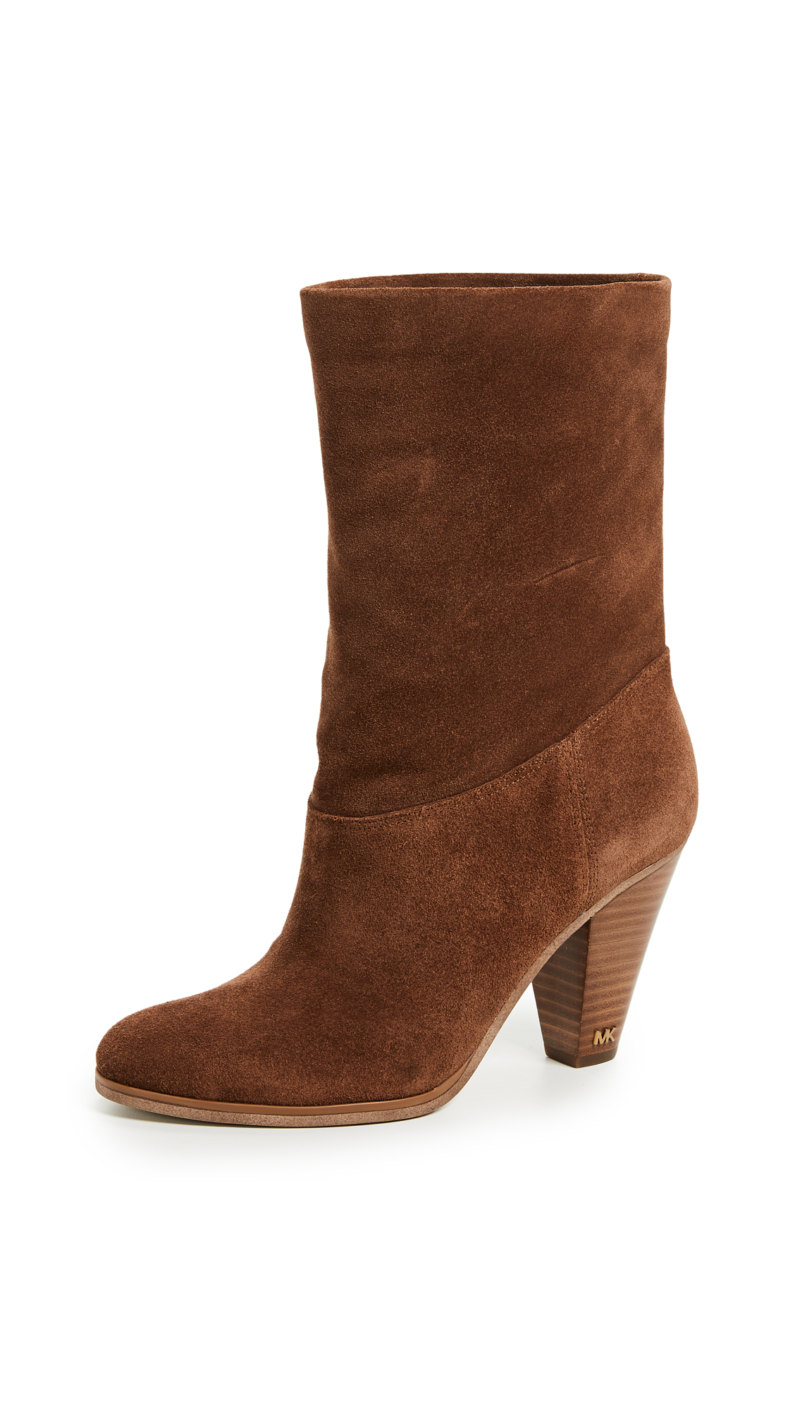 MICHAEL Michael Kors Divia Mid Shaft Booties - Dark Caramel