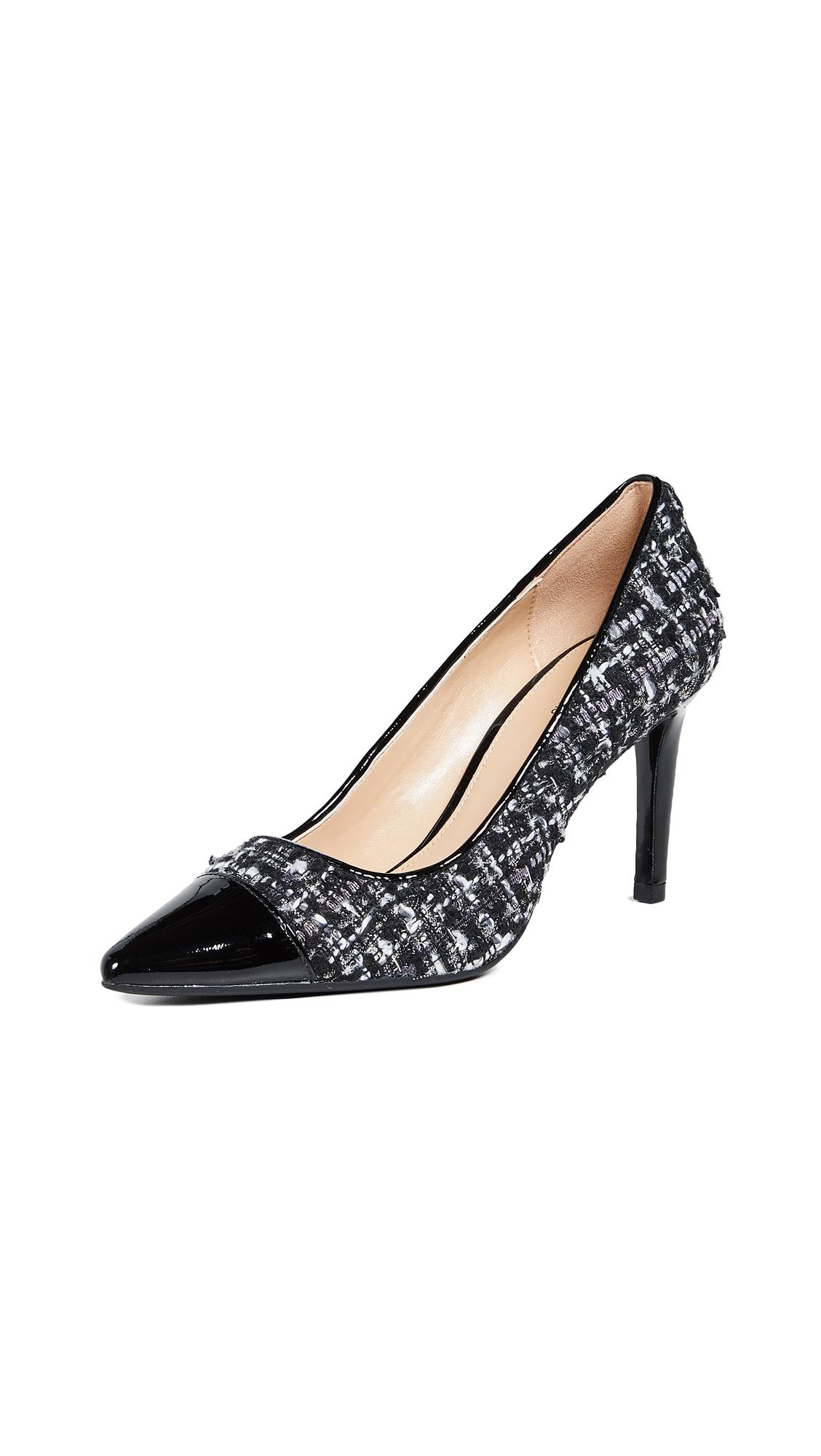 MICHAEL Michael Kors Dorothy Flex Mid Toe Cap Pumps - Black/Silver