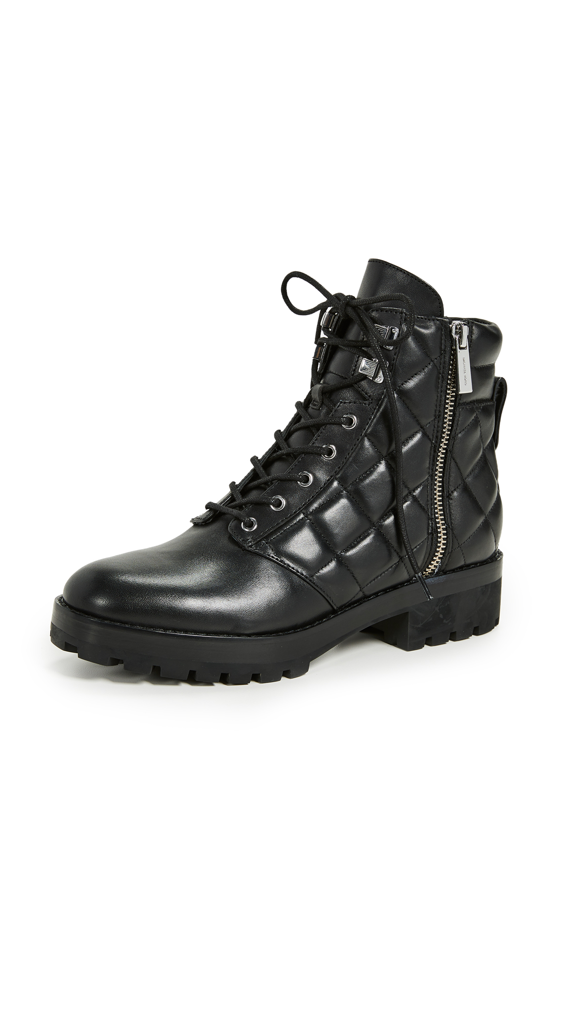 MICHAEL Michael Kors Rosario Quilted Combat Boots - Black