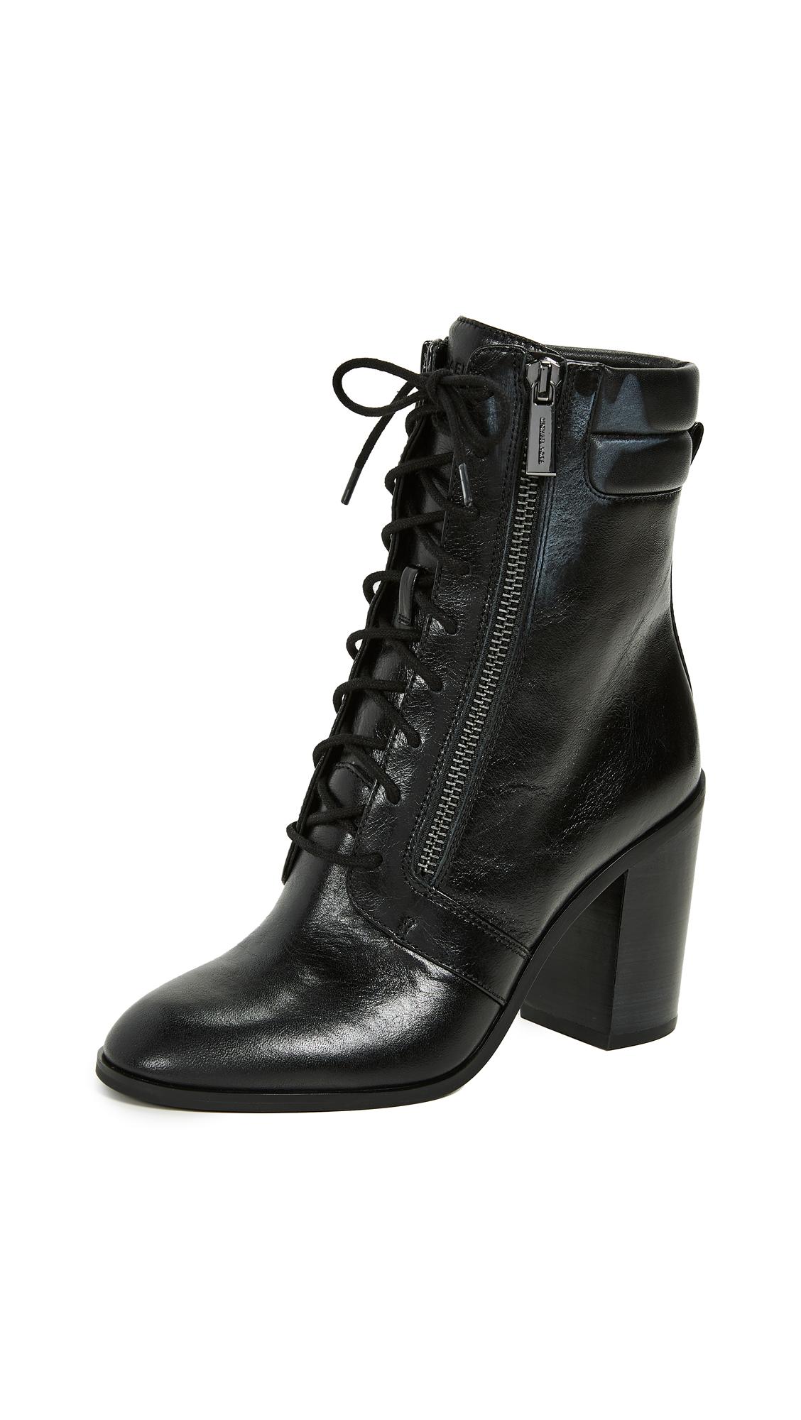 MICHAEL Michael Kors Rosario Lace Up Boots - Black