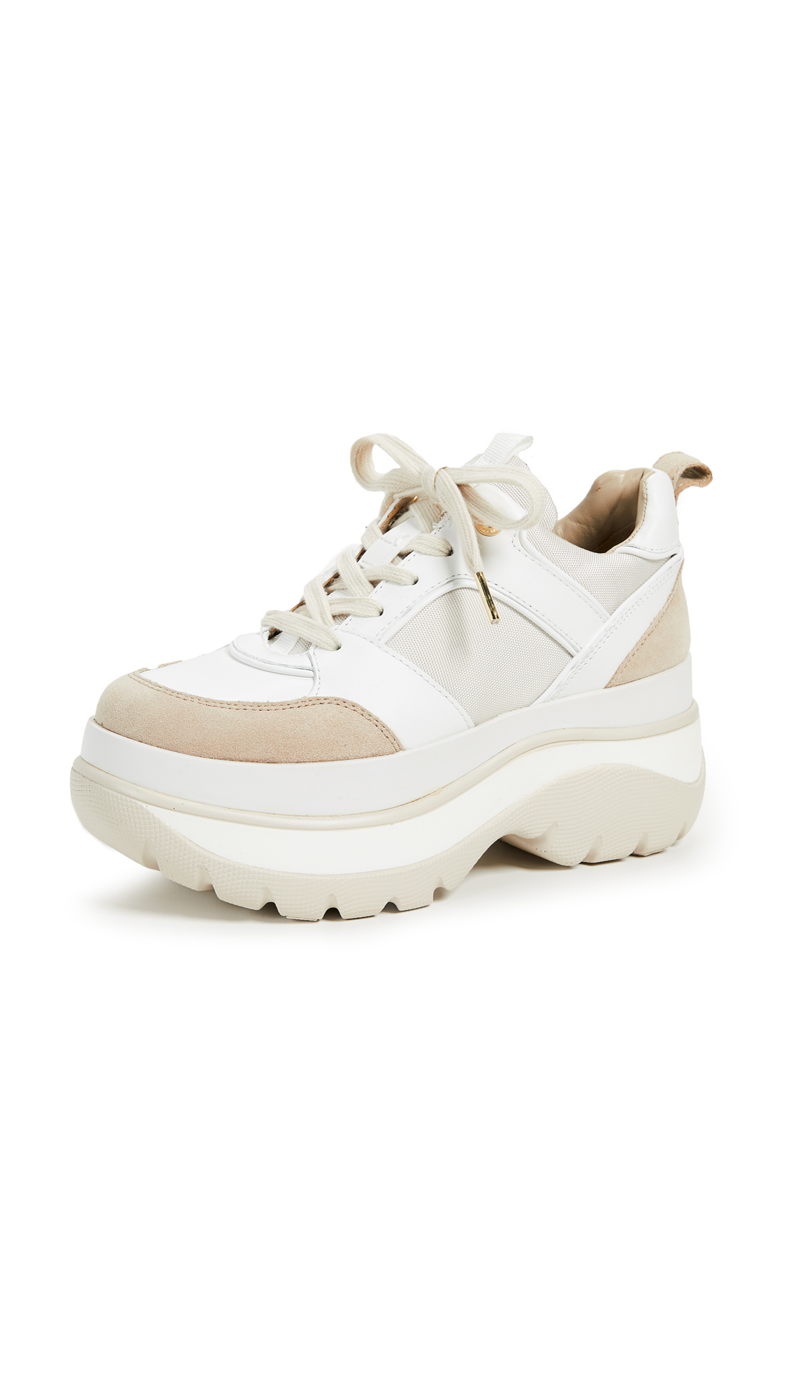 MICHAEL Michael Kors Felicia Trainer Sneakers - Ecru/Optic White