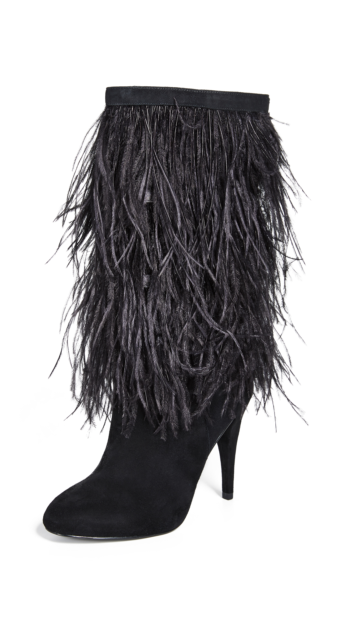 MICHAEL Michael Kors Asha Feather Boots - Black