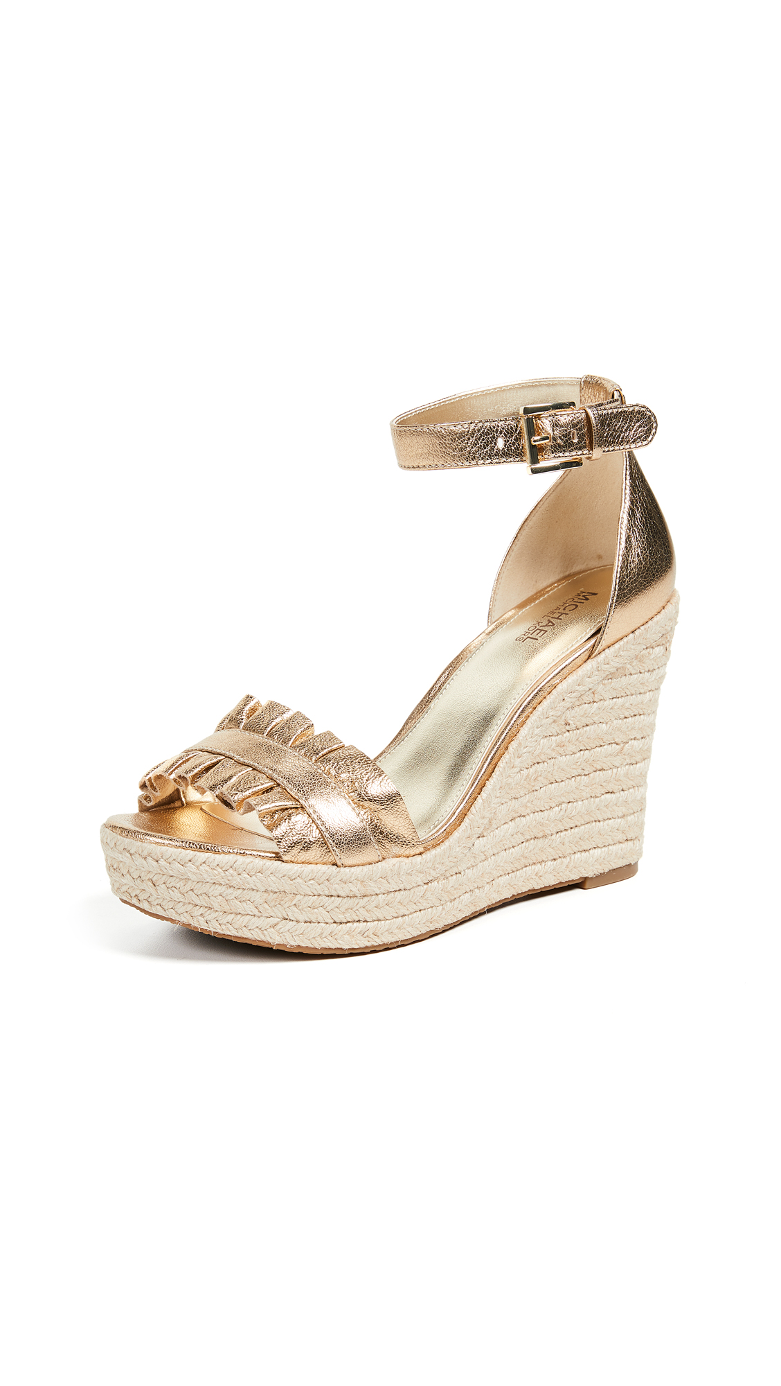 MICHAEL Michael Kors Bella Wedges - Pale Gold