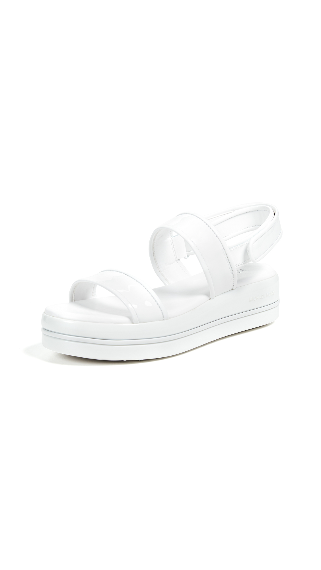 MICHAEL Michael Kors Peggy Platform Sandals - Optic White