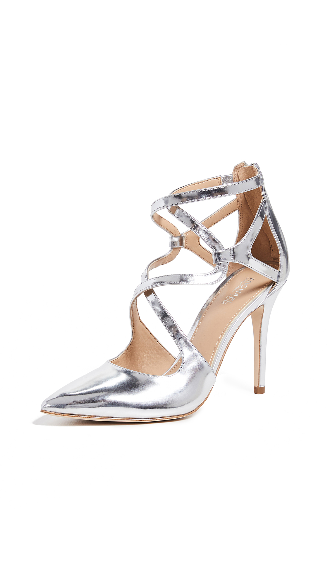 MICHAEL Michael Kors Catia Point Toe Pumps - Silver