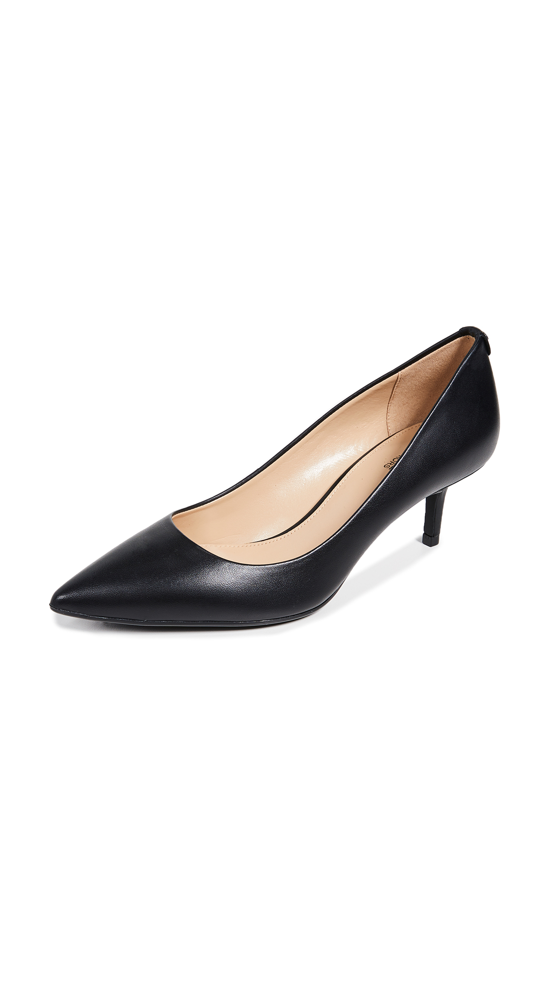 MICHAEL Michael Kors MK Flex Kitten Heel Pumps - Black