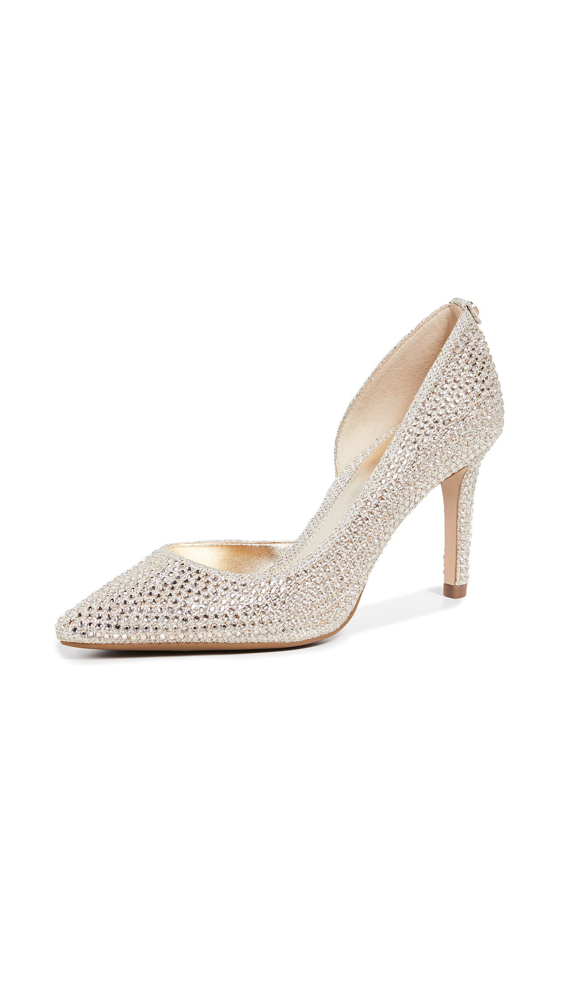 MICHAEL Michael Kors Dorothy Flex Dorsay Pumps - White/Gold
