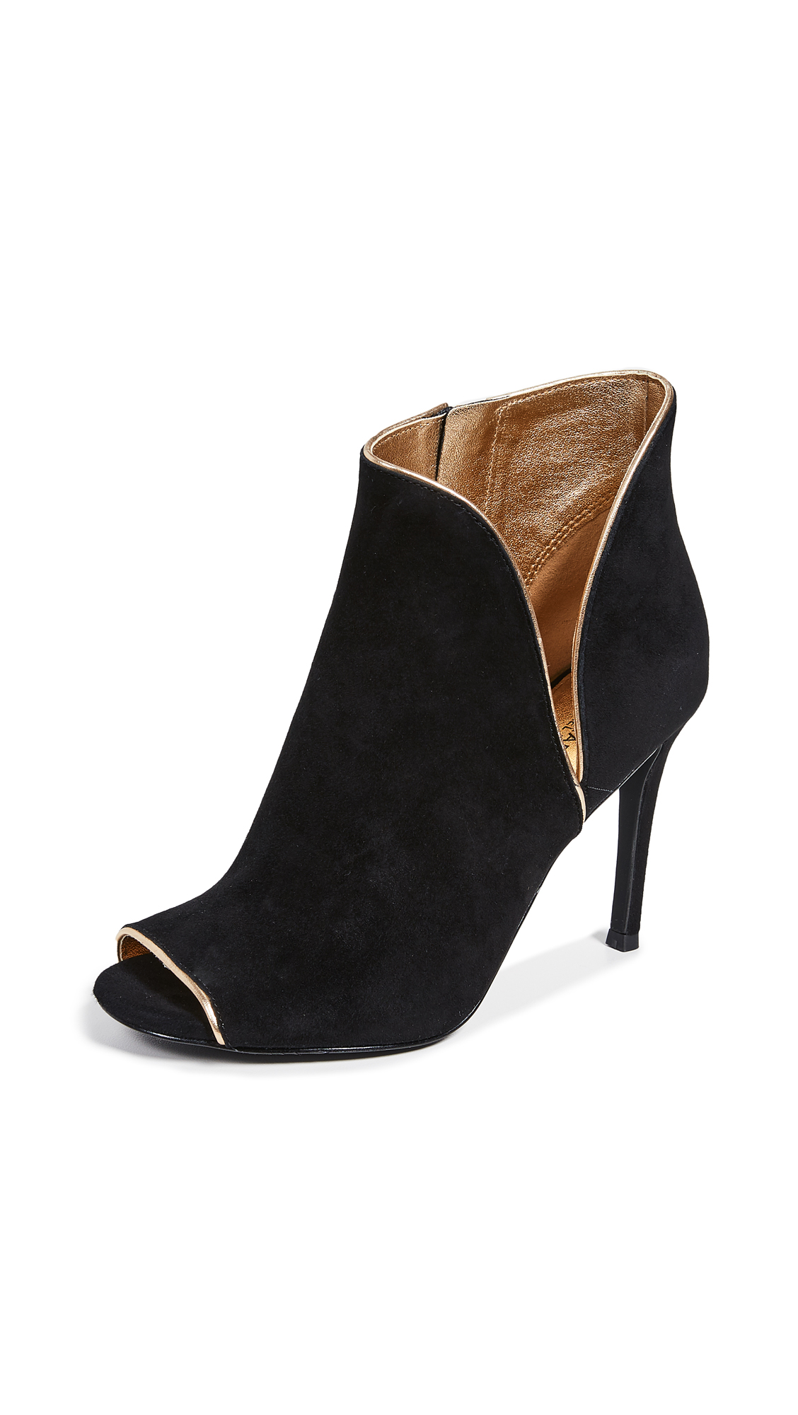 MICHAEL Michael Kors Harper Open Toe Booties - Black