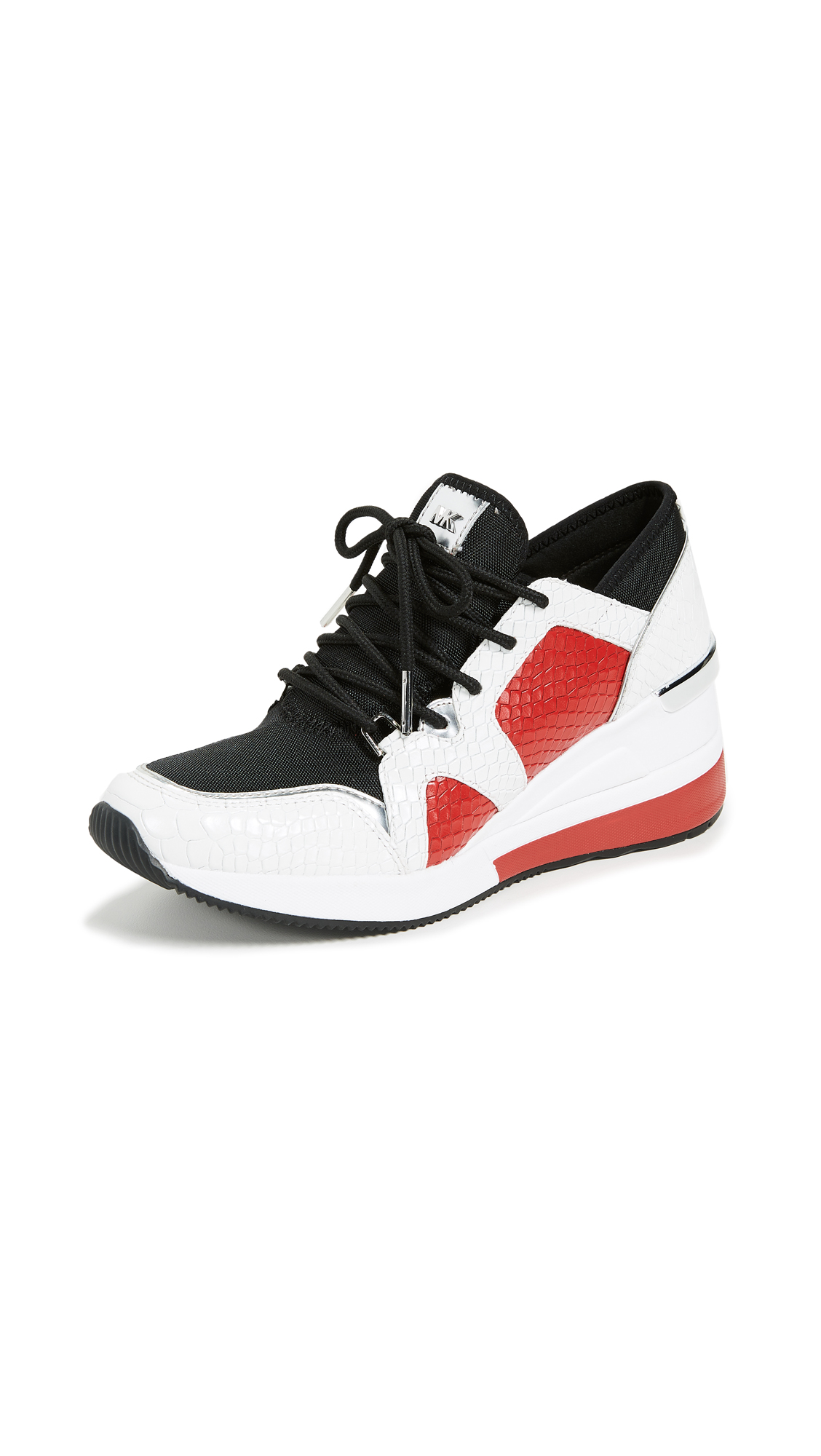 MICHAEL Michael Kors Liv Trainer Sneakers - Opt/Bright Red