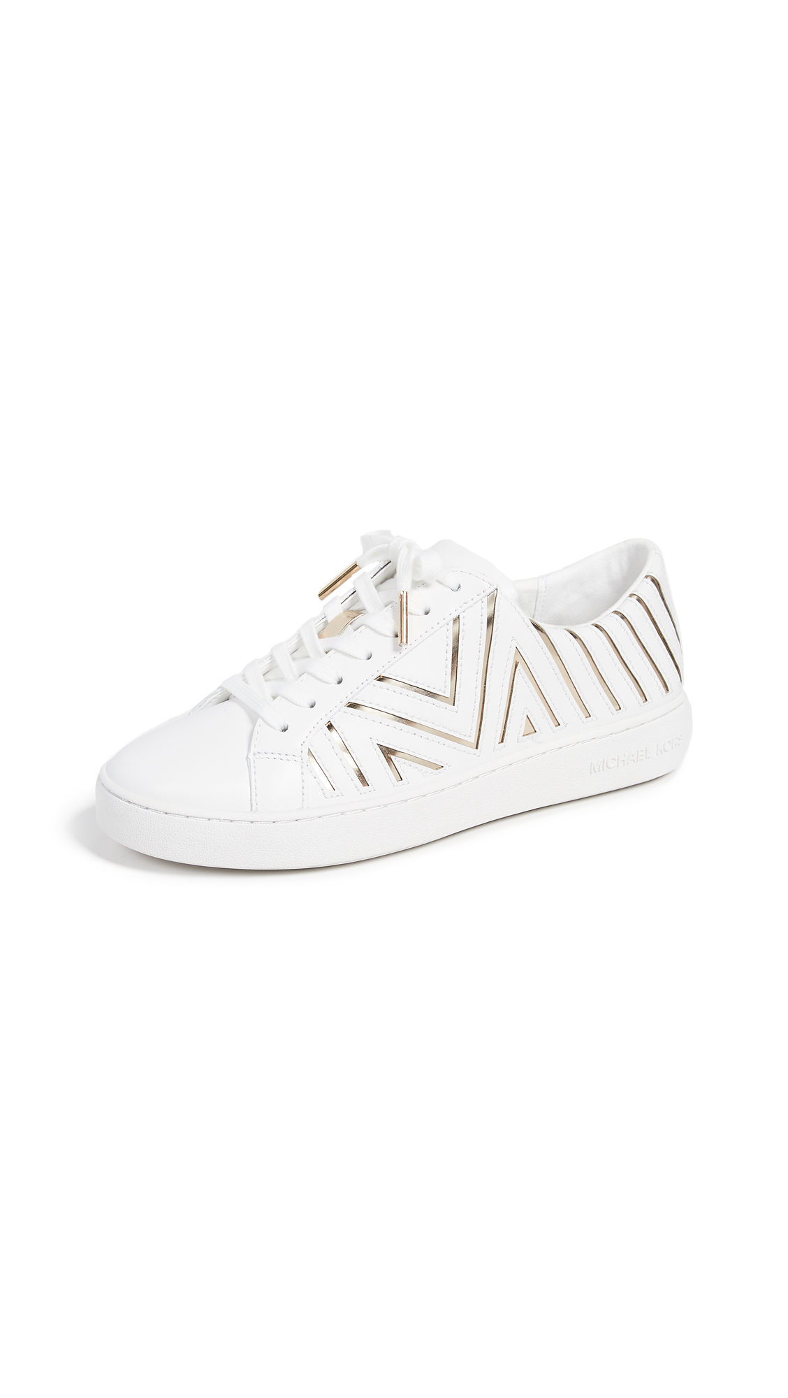 MICHAEL Michael Kors Whitney Laceup Sneakers - Opt/Gold