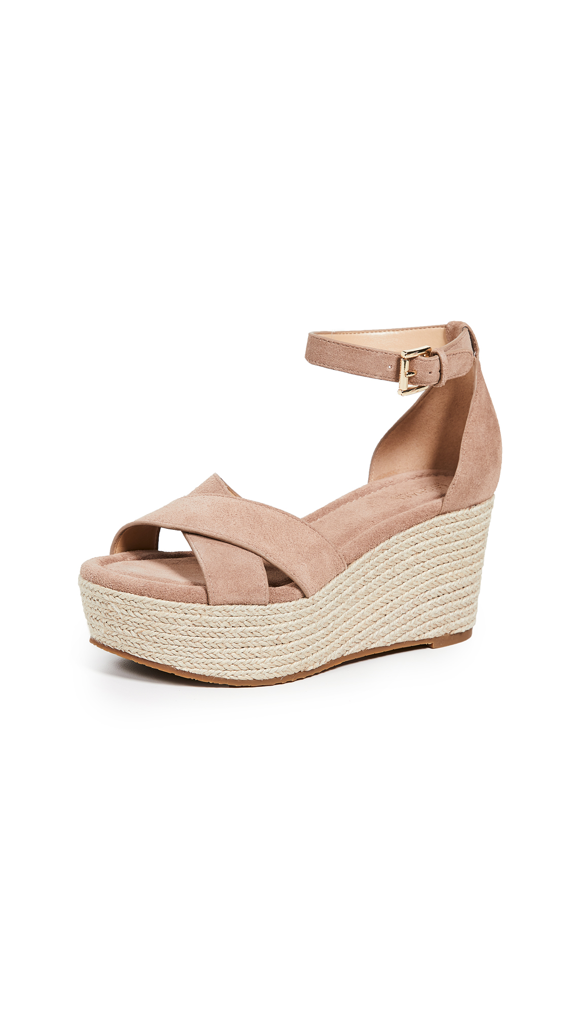 MICHAEL Michael Kors Desiree Wedges - Dk Khaki