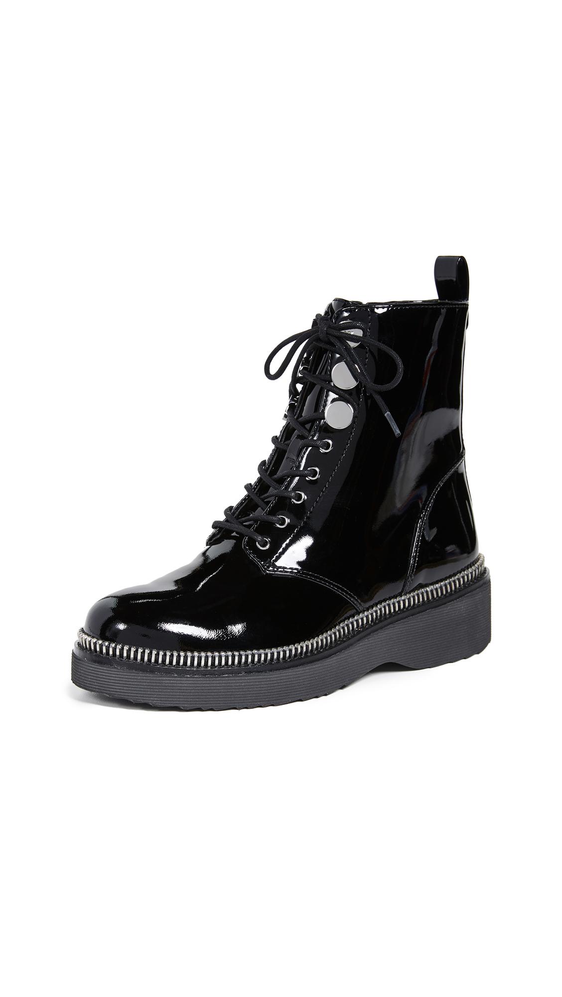 MICHAEL Michael Kors Tavie Combat Boots - Black