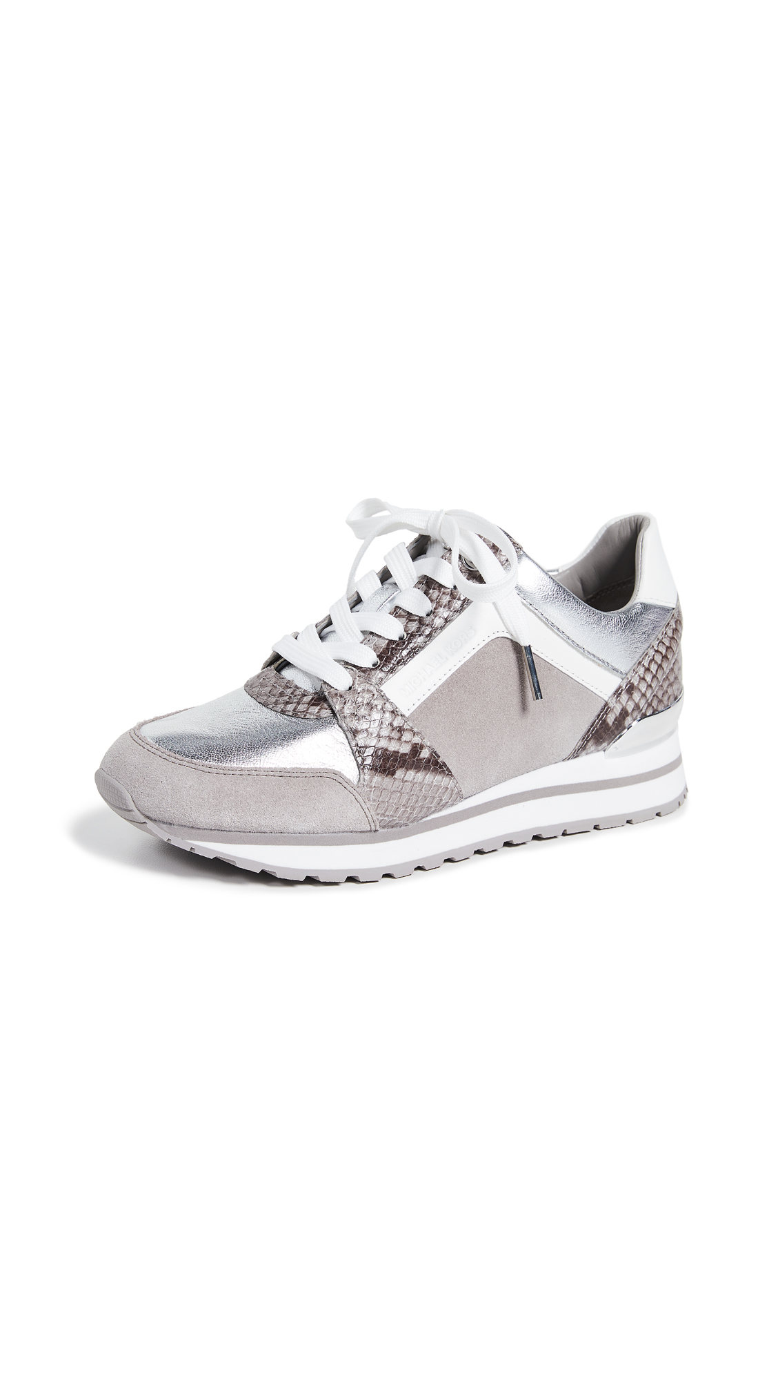 MICHAEL Michael Kors Billie Trainers - Pearl Grey