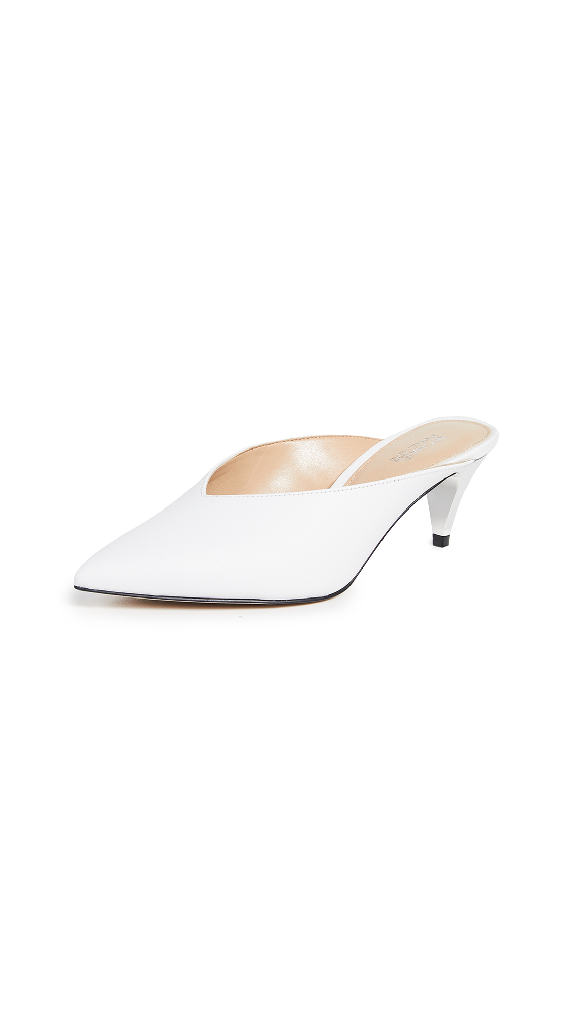 MICHAEL Michael Kors Cambria Mules - Optic White