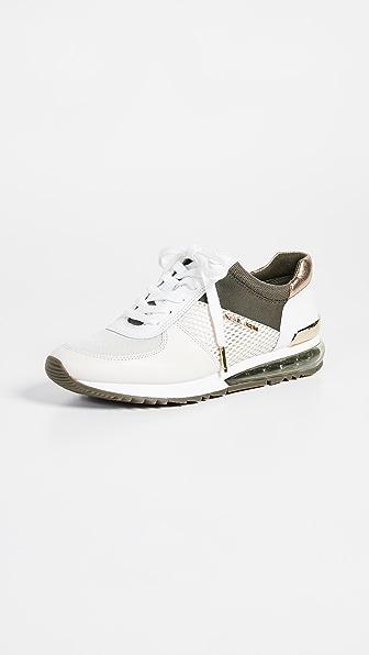 4377e5e56ba Michael Michael Kors Women's Allie Extreme Trainer Sneakers In Cream ...