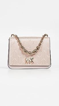 6e8ab6bd9668 MICHAEL Michael Kors. Mott Large Twist Chain Shoulder Bag